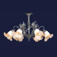 โคมไฟเพดานดอกไม้ วินเทจ