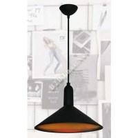 โคมไฟห้อยเพดานทรงจาน ฝาชี