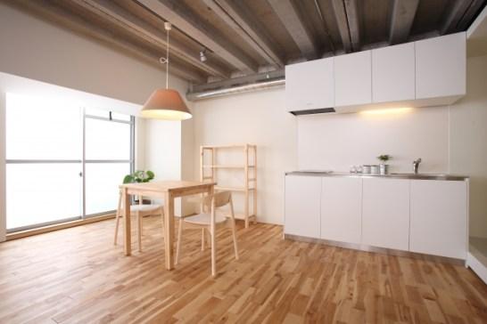 1LDKの壁づけI型キッチン