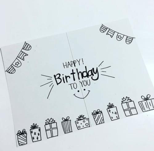 彼氏の誕生日にhappy Birthdayをオシャレに手書きするアイデア