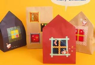 來做「房子造型」的紙袋吧