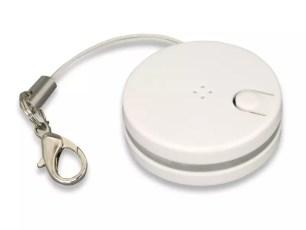 能以藍芽連接呼叫鑰匙或手機防止遺失的鎖圈