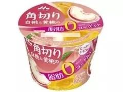 森永 白桃與黃桃的零脂優格 145克