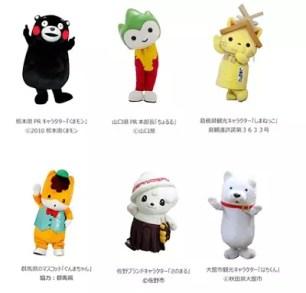 當地特色角色將在台灣FESTA2016大集合!