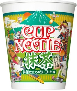 「Japan♥Noodles Trio」:Cup Noodle 抹茶 抹茶海鮮風味