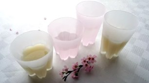 為自然的惡作劇也增添上華麗表情。櫻花綻放玻璃杯🌸