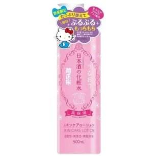 意想不到的聯名!菊正宗「日本酒化妝水系列」Hello Kitty版♡