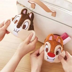 讓人上癮的觸感!迪士尼奇奇與蒂蒂「有彈性又柔軟的臉頰玩偶小物收納包」