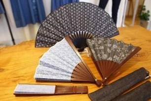 KYOTO DENIM職人手作「京小紋染丹寧扇子」☆日式風情的獨特贈禮首選