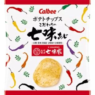 卡樂比洋芋片x京都老字號七味家聯名「洋芋片 嚴選七味粉口味」日本全國便利商店販售中