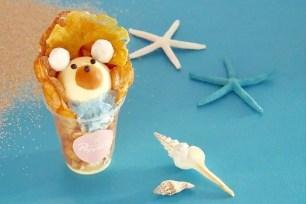 名古屋・比利時鬆餅冰淇淋外帶專售店「Popping Waffle」夏季限定「白熊比利時鬆餅」