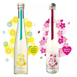 日本酒基底的風味氣泡酒「8泡美人」生薑檸檬♫櫻花2種口味