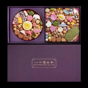 裝進滿滿的福氣☆百年歷史老字號「銀座菊廼舍」季節限定什錦和菓子禮盒☆