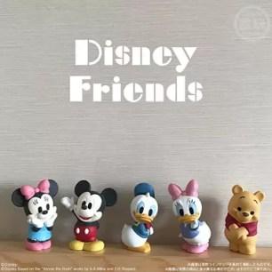 想收集到所有款式!8款迪士尼角色的可愛造型軟膠模型食玩「Disney Friends」