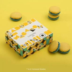 日本限定聯名♡法國馬卡龍代名詞「Ladurée」x小小兵「MINION MAGIC CIRCLE」盒裝馬卡龍