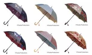 日本傳統工藝技術☆「手塚治虫誕生90周年記念 郡内織 晴雨兩用摺疊傘」