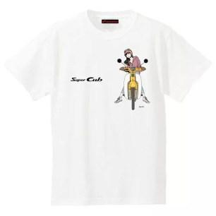 歷久彌新HONDA Super Cub系列☆兼具可愛與帥氣的「江口壽史繪製插畫T恤」