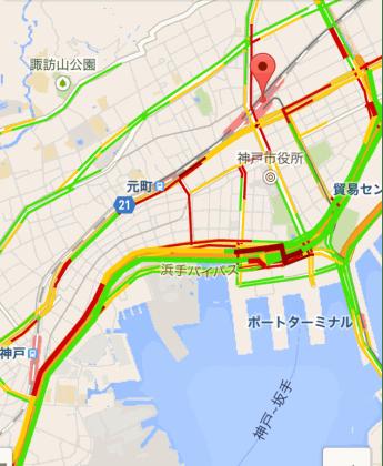 ルミナリエ渋滞地図