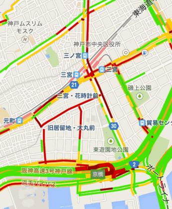 ルミナリエ渋滞状況