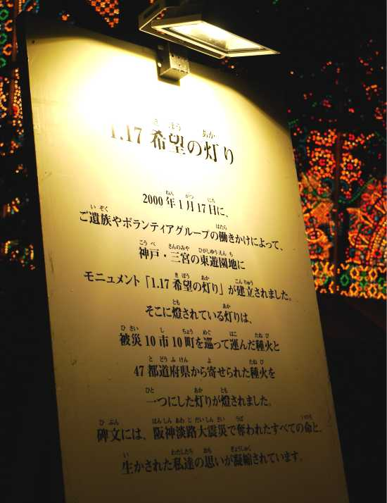 神戸ルミナリエ炎