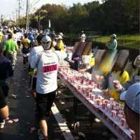 神戸マラソン ハーフ地点コース写真