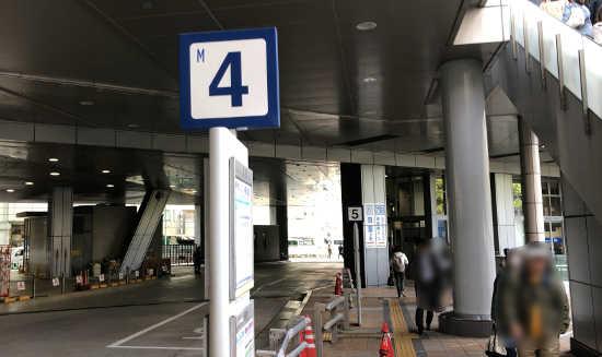 神戸から徳島行きバス停