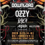 「Download Japan 2019」第1弾ラインナップ発表、OZZY OSBOURNE、SLAYER、ANTHRAX、ARCH ENEMYの出演が決定
