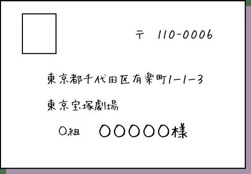 東京宝塚劇場 送り先住所