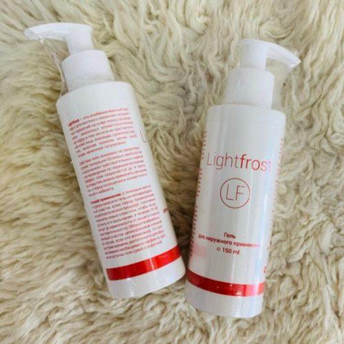 Light frost 150 в средней упаковке используется для допроцедурной обработки кожи