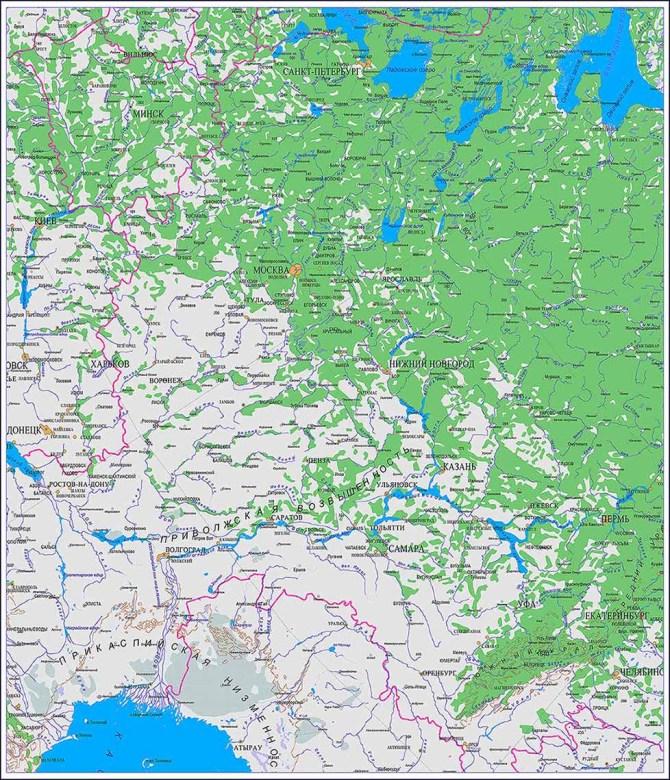 Настенная карта Волгоградской области