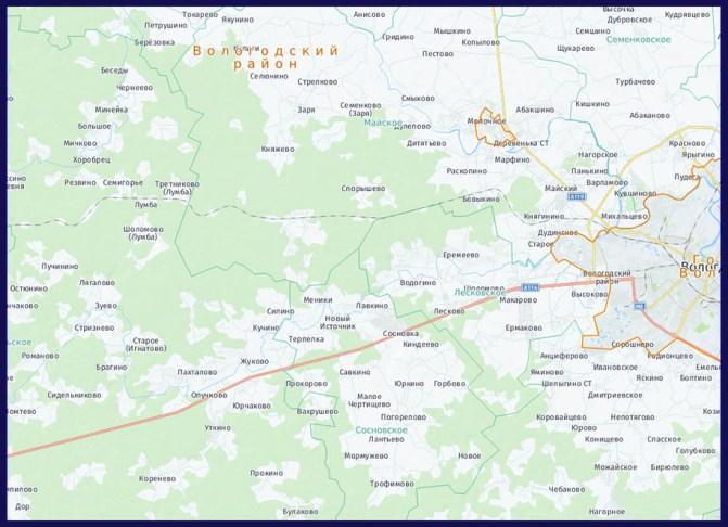 изготовление карты Вологодской области