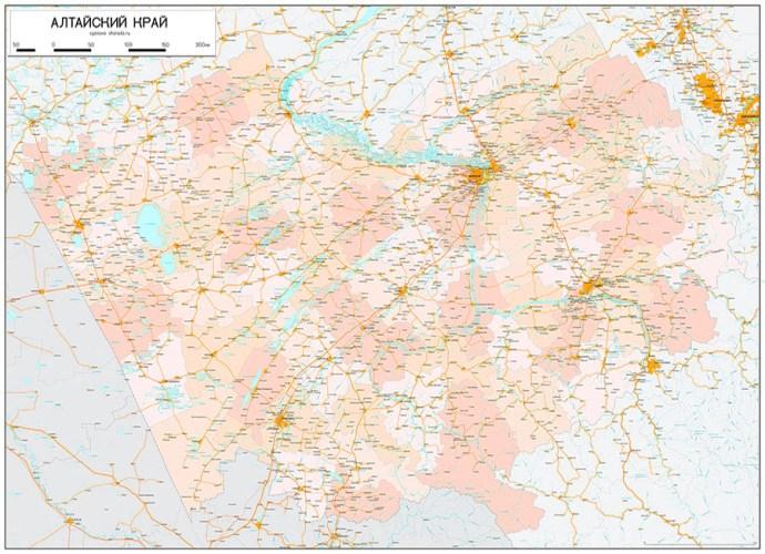 настенная карта алтайского края
