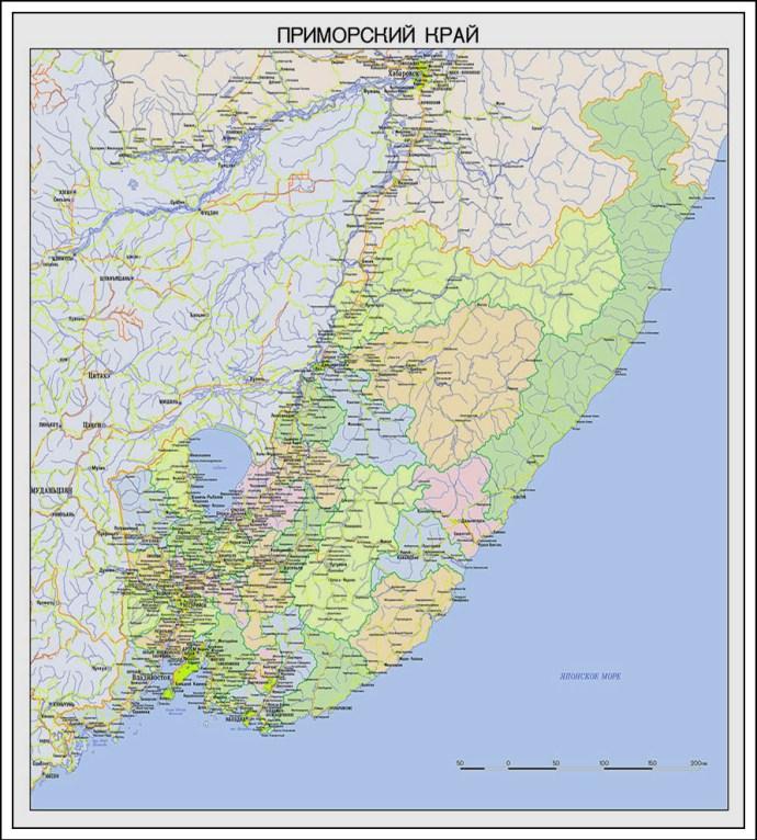 карты Приморского края