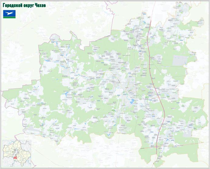 купить карту Чеховского городского округа