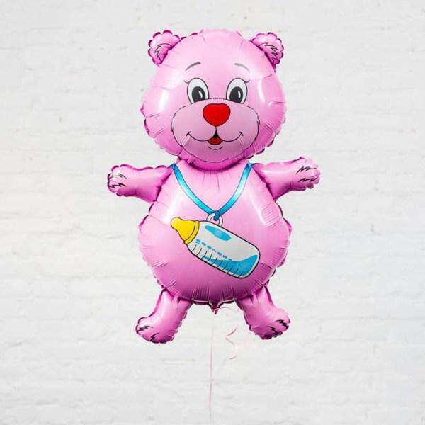 Фигурный шар медвежонок для девочки