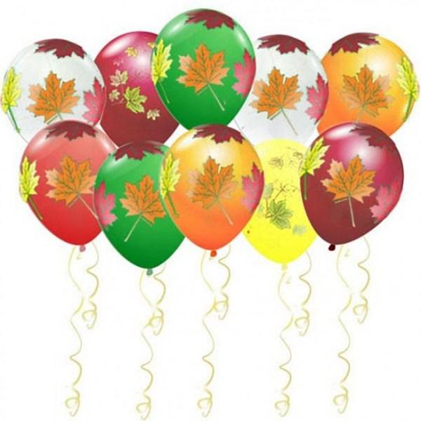 Воздушные шары с осенними листьямиями