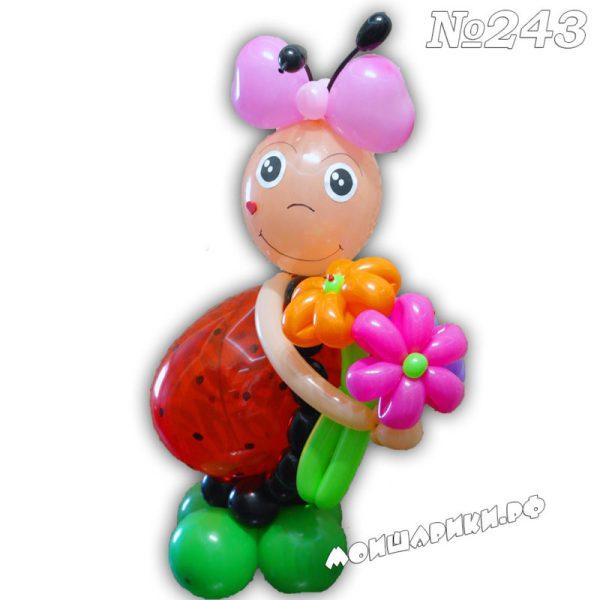 Божья коровка из шариков
