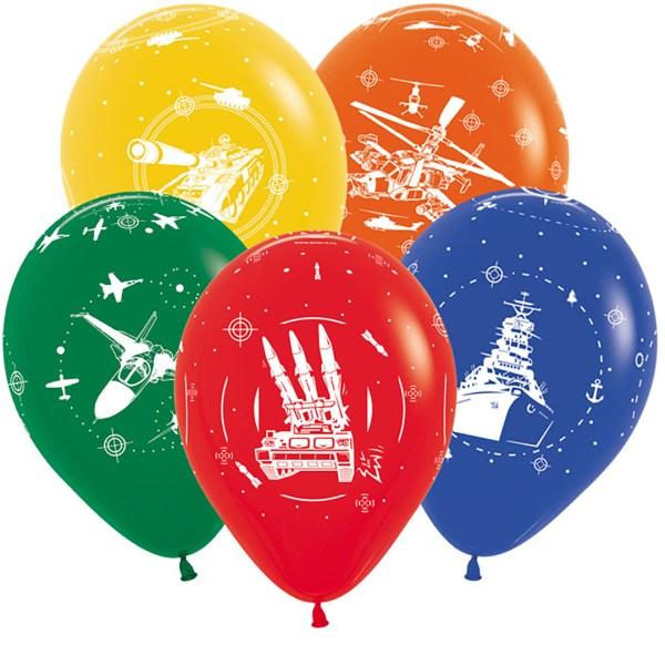 Воздушные шары с военной техникой