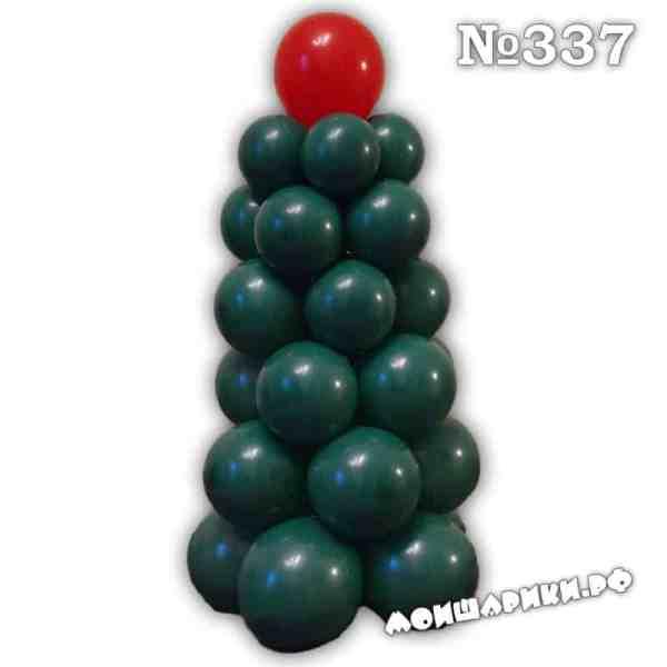 Елка из воздушных шаров маленькая
