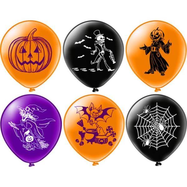 Латексный шар на Хэллоуин 6 дизайнов