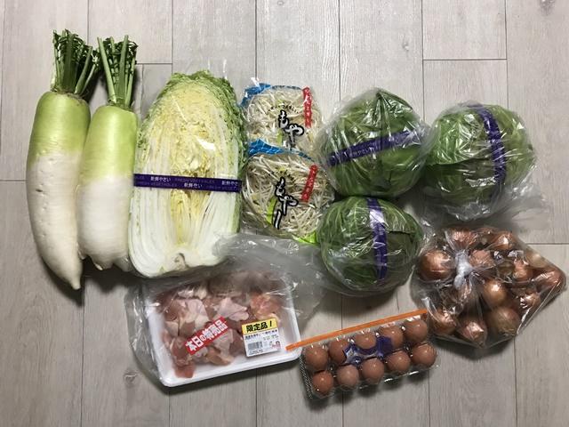 八百屋で買った野菜