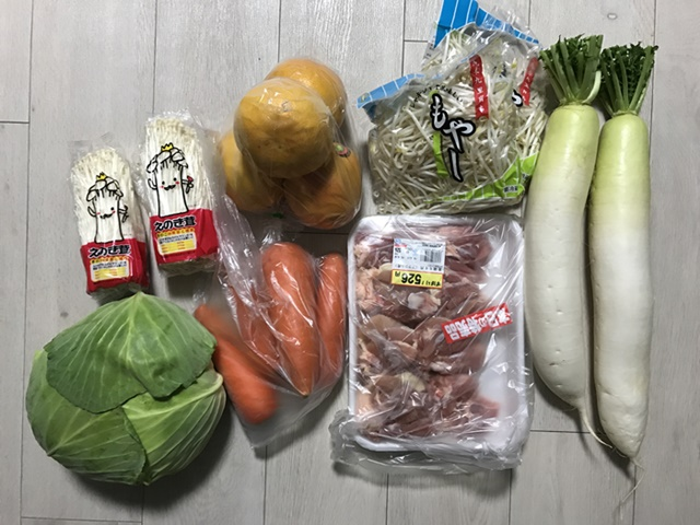 20190410 八百屋で買った野菜