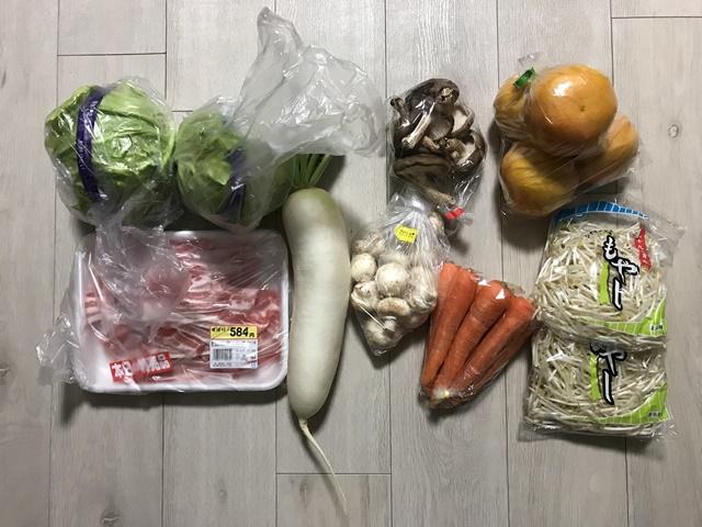 20190418 八百屋で買った野菜