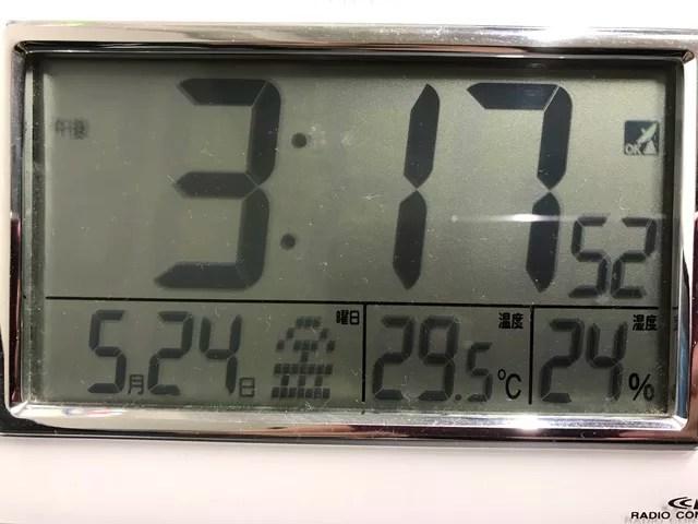 室温が29度を超えたところ