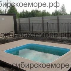 Бассейн из полипропилена с террасным настилом