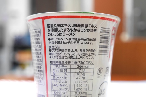 カップラーメン 塩分