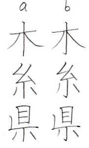 漢字の許容 縦画のハネ