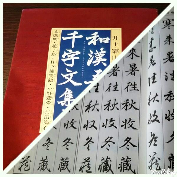 『智永・真草千字文』を臨書の前に、意味が載っている本で臨書していこう