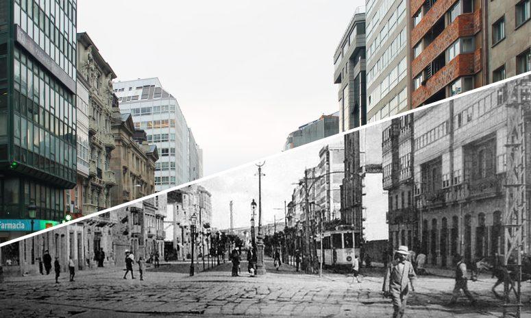 Calle Juana de Vega antes y después