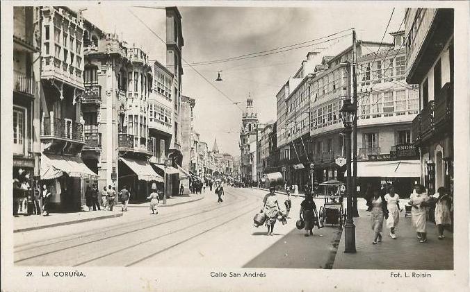 Foto antigua Calle San Andrés, Coruña